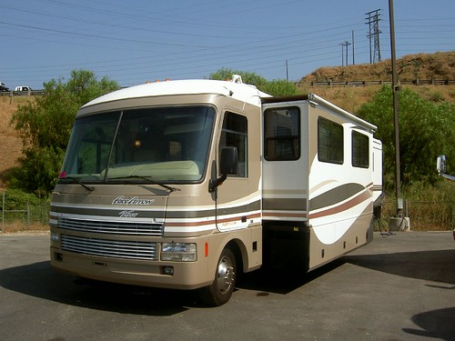 RV with Livingroom Slideout showing