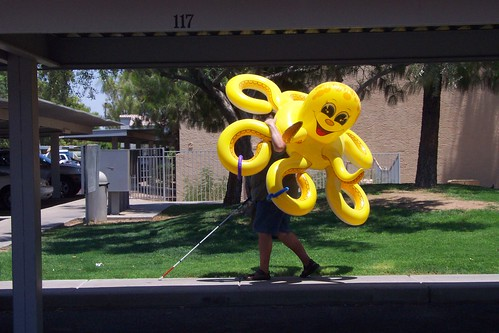 Blind Man with Octopus