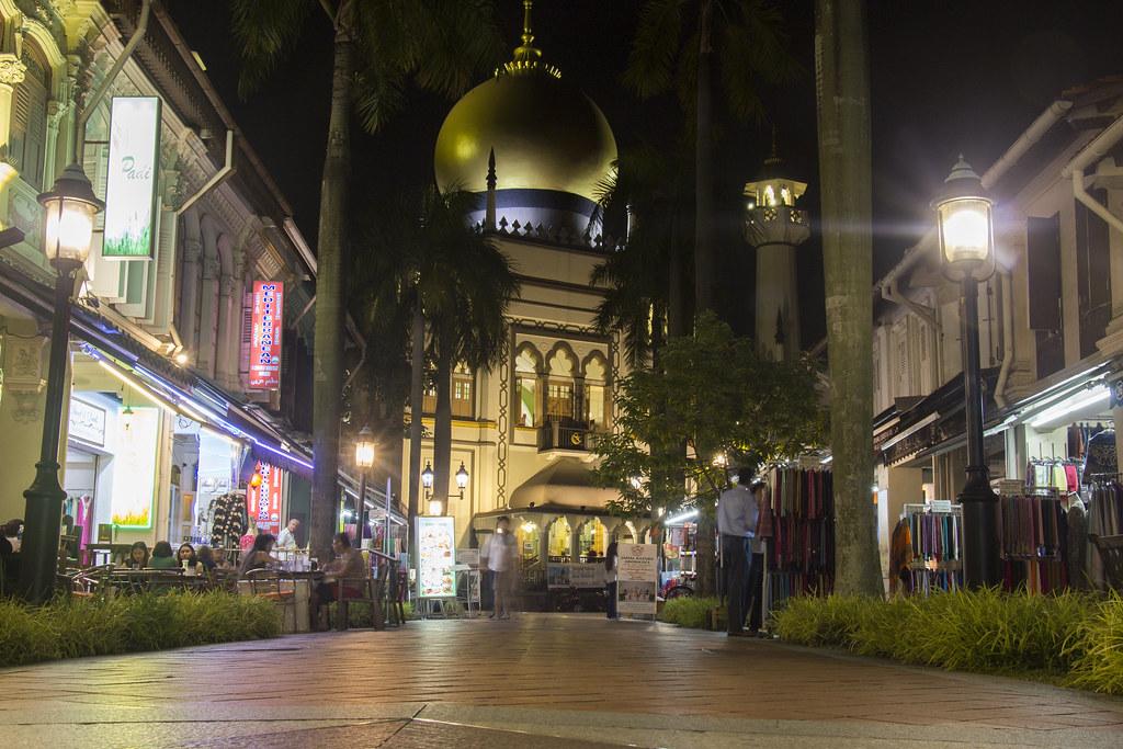 Masjid Sultan (Sultan moskeen) og Kampong Glam