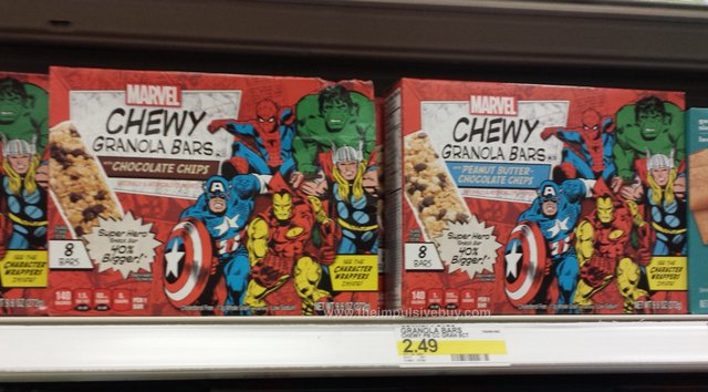 Marvel Chewy Granola Bars (with Chocolate Chips and with Peanut Butter Chocolate Chips)