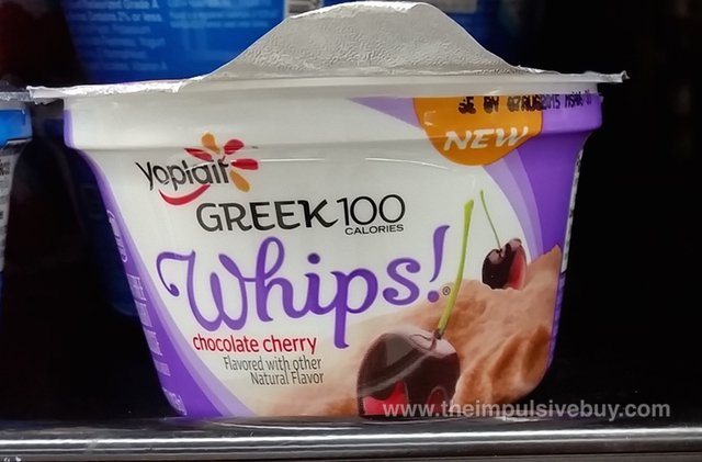 Yoplait Greek 100 Whips Chocolate Cherry Yogurt