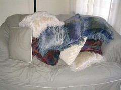 Remains of a pillow fort