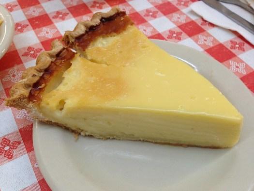 Egg Custard Pie, Matthews Cafeteria, Tucker GA