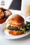 Review of Milk Bar by Cafe is by Sydney Food Blog Insatiable Munchies: Herbed Beef Patty, $14.50