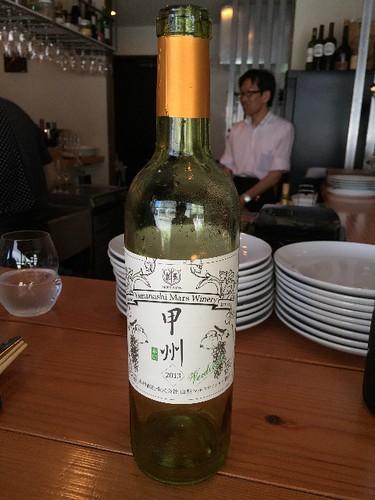 夏に合う白ワインです。名は甲州です。