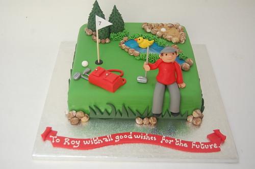 Golf Retirement Cake Beautiful Birthday Cakes