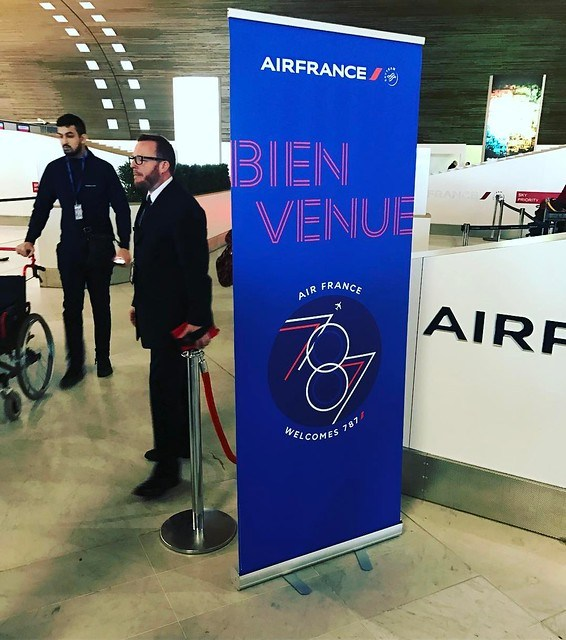 Vol inaugural du #B787 #AirFrance ! C'est parti #avgeek #SkyTeam