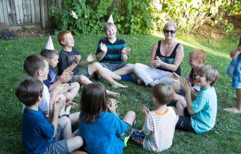 Laura and the kids