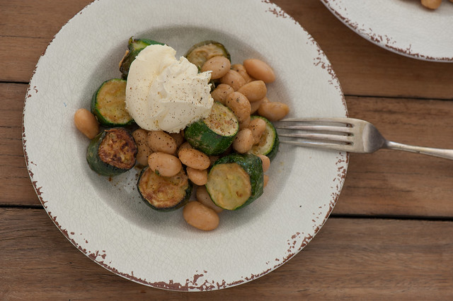 Zucchini with Butter Beans & Goats Curd-3