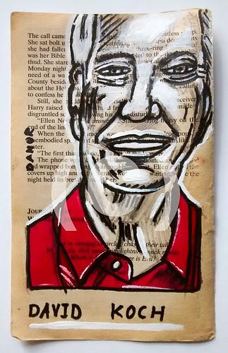 David Koch Portrait Painting By Artist Danor Shtruzman | Art Drawings (100 Richest By Forbes 2016 List)