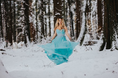 Dress in the snow