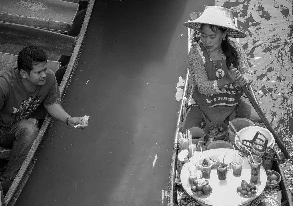 Imagen gratis de una tienda flotante en Tailandia