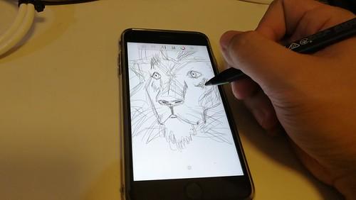 ลองวาดรูปด้วย Adonit Snap บน iPhone 7 Plus