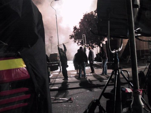 "Shaun of the Dead: Filming the ""White Lines"" scene outside the Winchester"