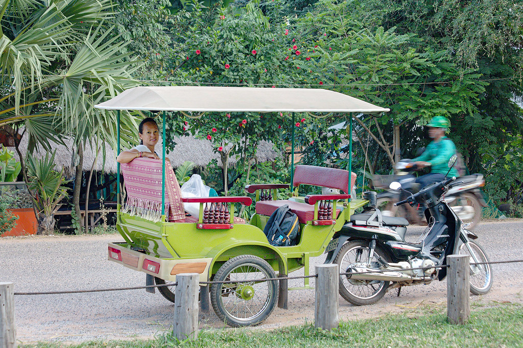 The standard version of the tuk-tuk for Cambodia.