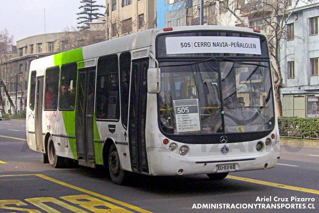 Transantiago - Buses Metropolitana / Metbus - Metalpar Tronador / Mercedes Benz (XU9388)
