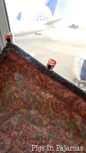 Mom Mauve & Dusty Blue binding on the plane