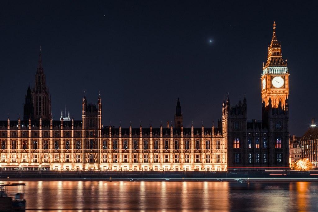Imagen gratis del Big Ben y el parlamento británico