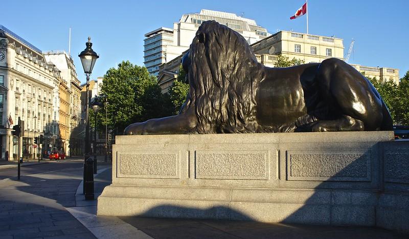 Bronze Lion at Trafalgar