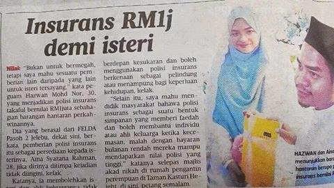 hantaran kahwin takaful RM1 juta