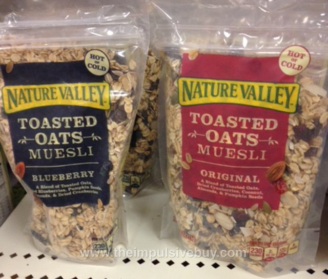 Nature Valley Toasted Oats Muesli (Original and Blueberry)