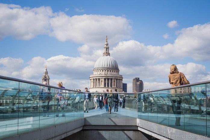 St. Paul's Cathedral Millennium Bridge London