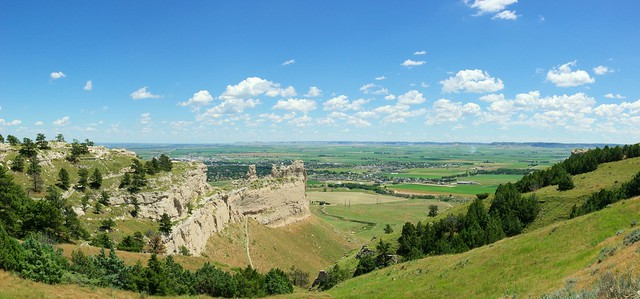 Scotts Bluff National Monument, an important 19th-century landmark on the Oregon Trail and Mormon Trail, Nebraska, July 9, 2010