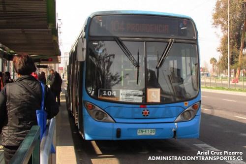 Transantiago - Inversiones Alsacia - Marcopolo Gran Viale / Volvo (ZN4120)