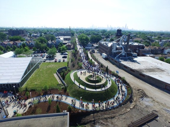Ridgeway from the air on Opening Day