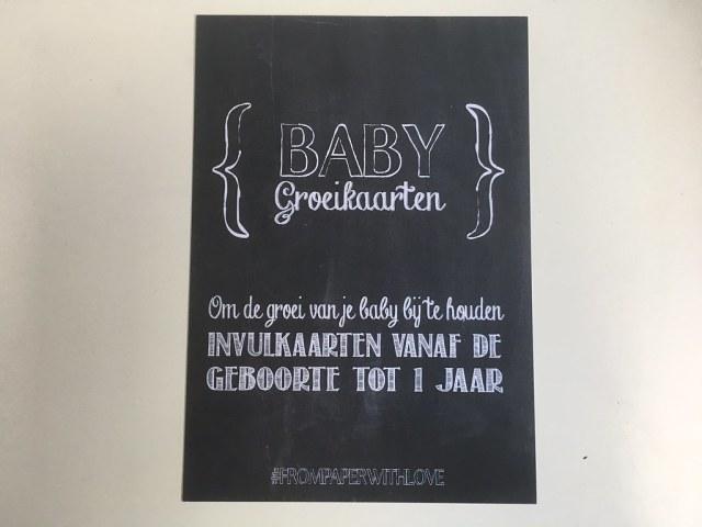 mijlpaalkaarten groeikaarten from wood with love from paper with love