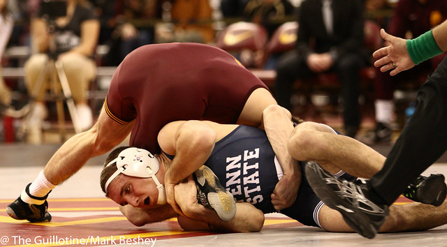 149 #1 Zain Retherford (Penn State) fall Carson Brolsma (Minnesota) 2:28