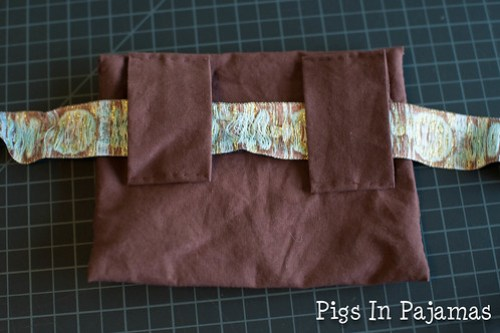 Hand sewn purse back and belt attachment