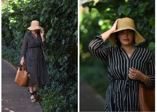 Floppy Hat, Stripe Shirtdresst