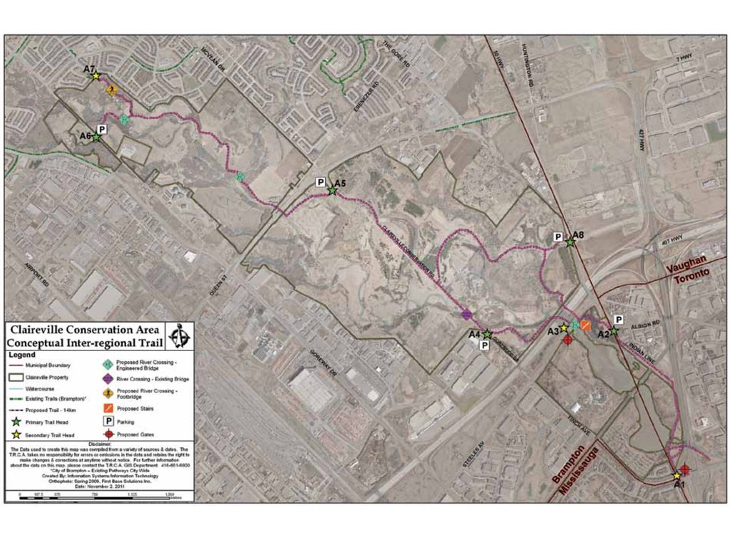 Claireville Conservation Area Trail Map