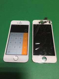 244_iPhone5Sのフロントパネル液晶割れ