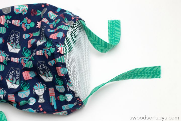 mesh bottom bag