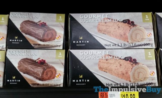 Martin Dessert Gourmet Chocolate Log and Gourment Sugar Cream Log
