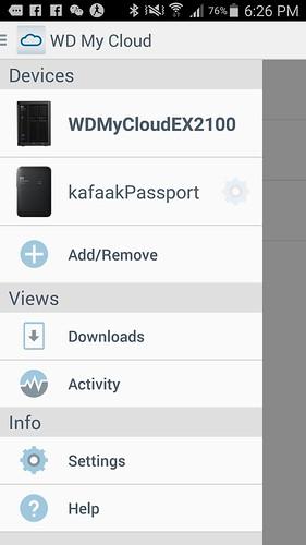 แอป WD My Cloud ใช้เชื่อมต่อผลิตภัณฑ์ของ WD ที่รองรับระบบ Network ได้เลย