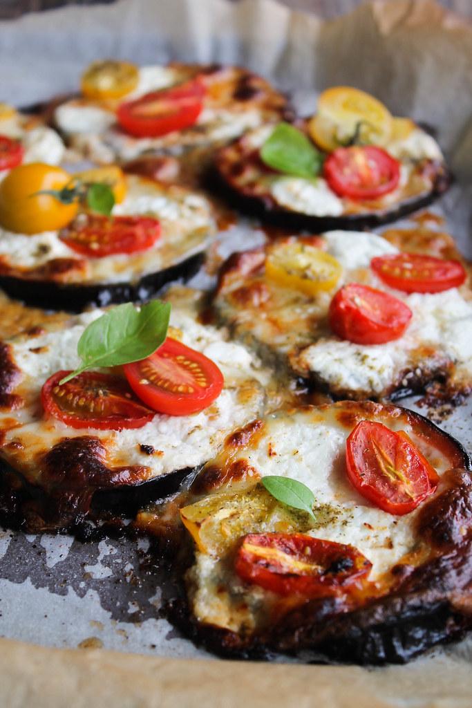 Pizza d'aubergine recette