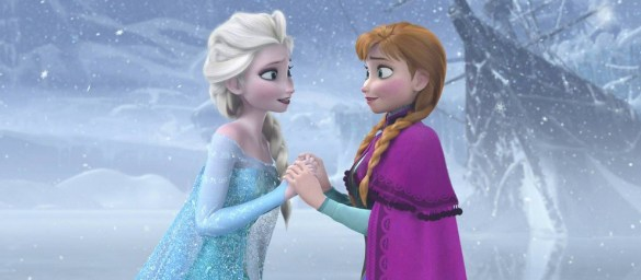 Elsa and Anna in Frozen. (Credit: Walt Disney Studios)