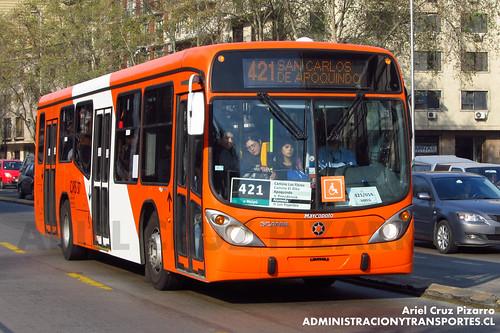 Transantiago - Express de Santiago Uno (U4) - Marcopolo Gran Viale / Scania (CJRS37)