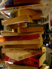 Hanging books detail