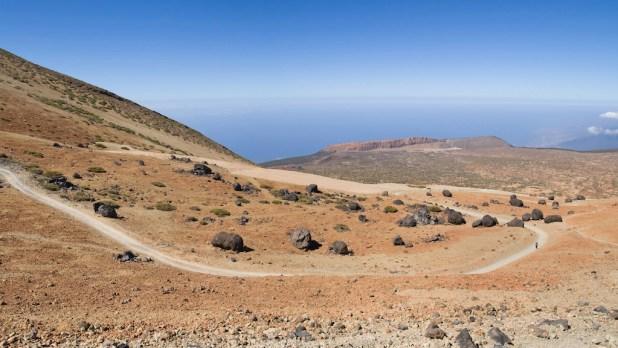 Sendero al Teide por Montaña Blanca