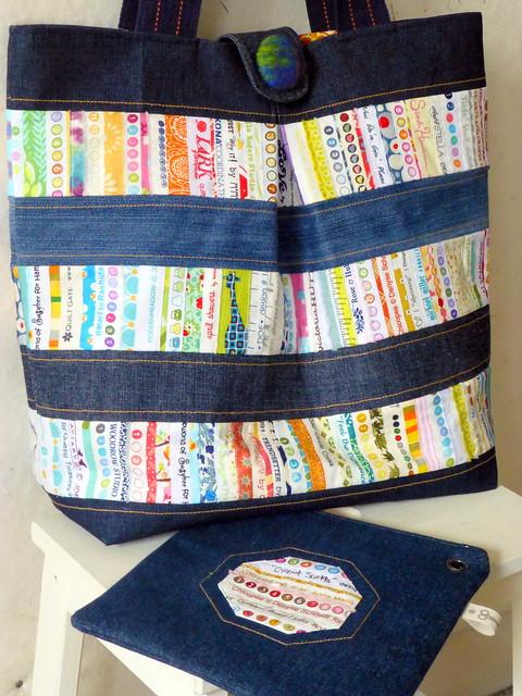Repurposed denim & selvedge bag