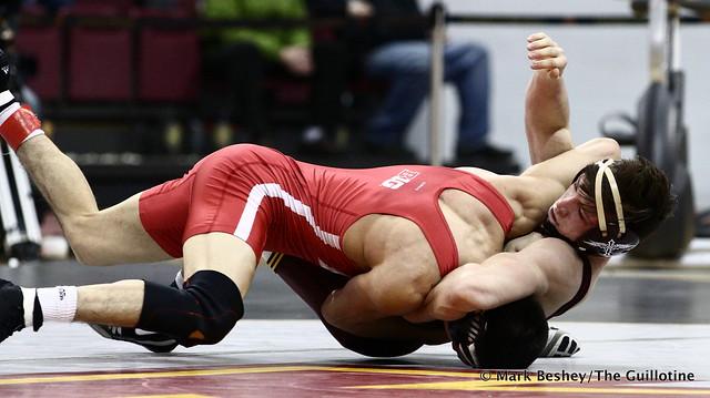 133 #5 Eric Montoya (Nebraska) dec. #16 Mitch McKee (Minnesota) 13-6