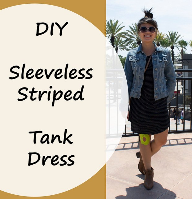 DIY Striped Tank Dress by Bumbling Panda