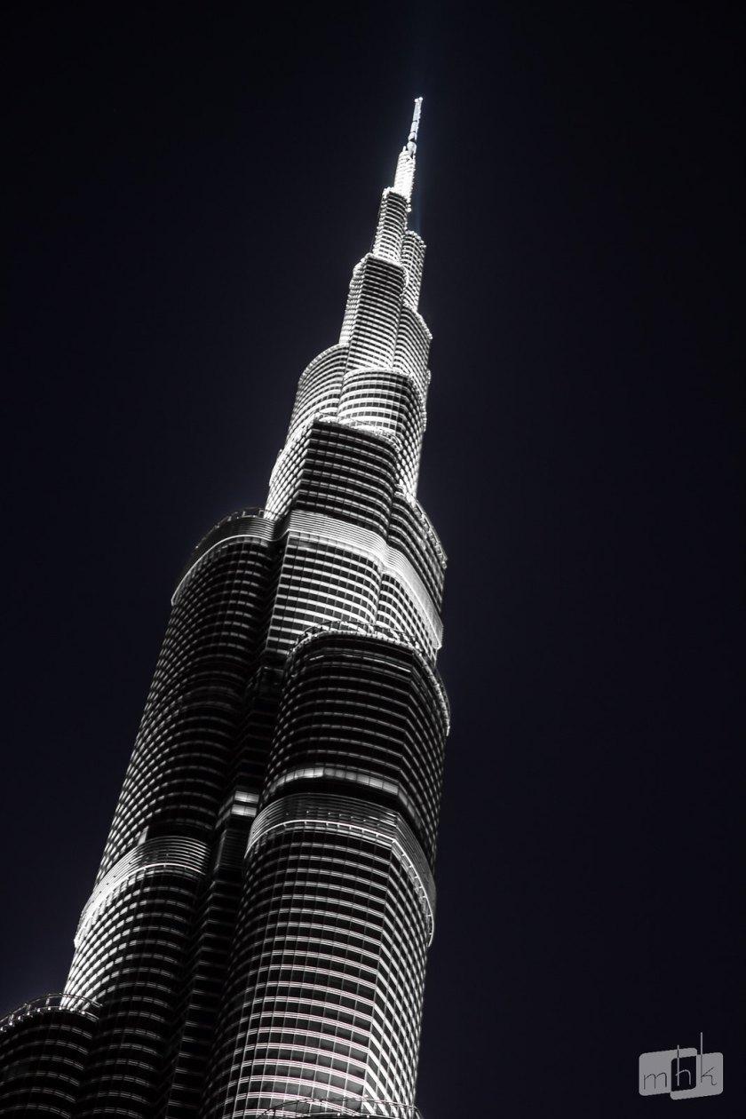 Burj Khalifah - Night Monochrome Setting