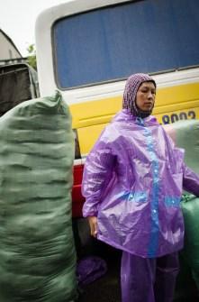 Woman with Rain Coat