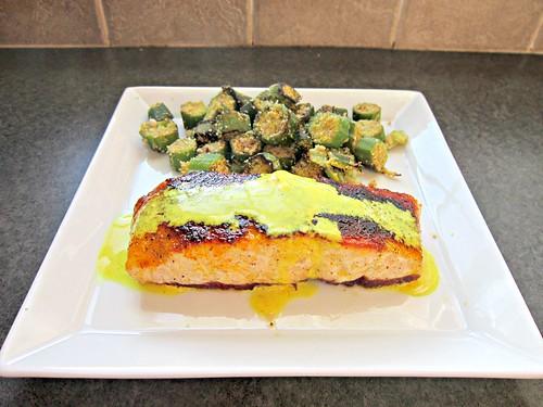 Salmon with Lemon Turmeric Sauce