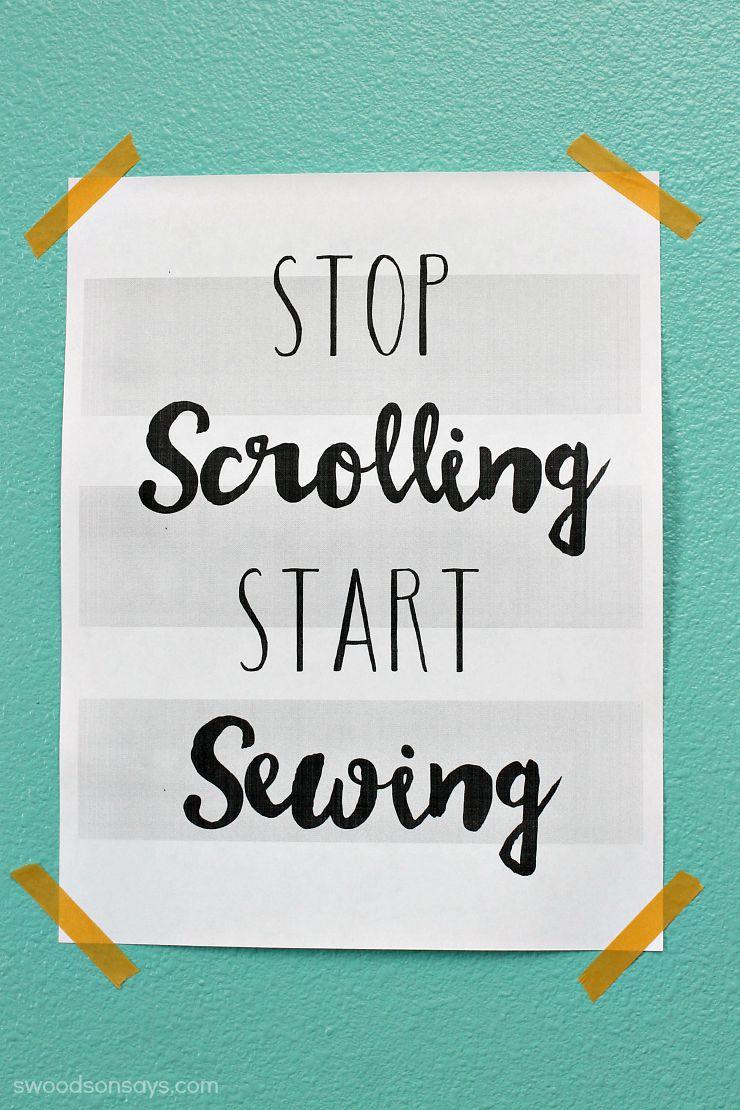 sewing printable freebie